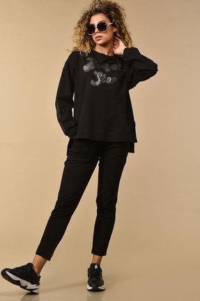 женский спортивный костюм сч@стье, черный