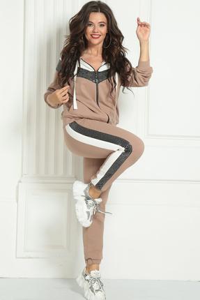 женский спортивный костюм solomeya lux, бежевый