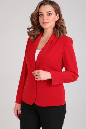 женский жакет ришелье, красный