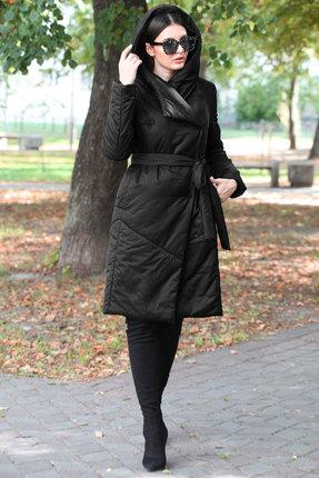 женское пальто doggi, черное
