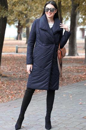 женское пальто doggi, синее