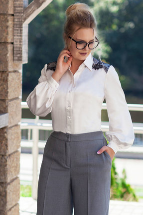 женская блузка euromoda, молочная