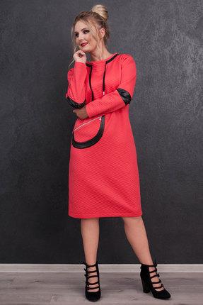 женское повседневные платье euromoda, розовое