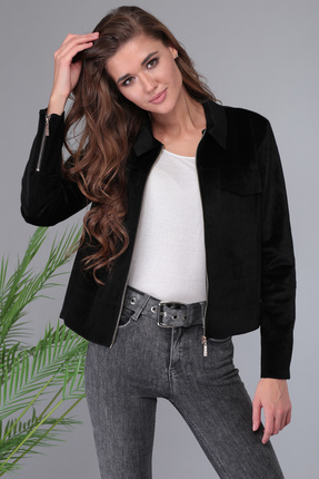 женский жакет denissa fashion, черный