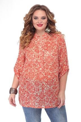женская блузка белэльстиль, персиковая