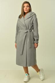 Пальто Диамант 1544 серый
