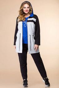 Комплект брючный Romanovich style 3-2062 серо-черный с синим