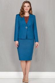 Комплект юбочный Ivelta plus 3612 синий с коричневым
