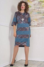 Платье Avanti Erika 1107 серый с бирюзой