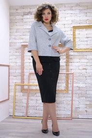 Комплект юбочный Avanti Erika 11074 серый с черным