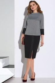 Комплект юбочный Lissana 4064 черно-серый