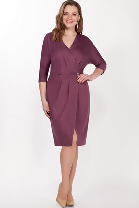 женское платье для офиса lakona, пурпурное