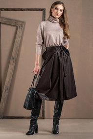 Комплект юбочный Deesses 2056 черный с серым