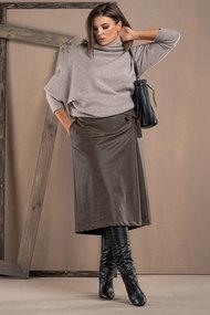 Комплект юбочный Deesses 2061 хаки с серым