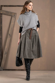 Комплект юбочный Deesses 3031 серый с черным