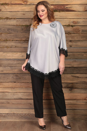 женский брючный костюм angelina & co, серый