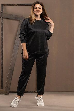 женский брючный костюм deesses, черный