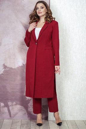 женский брючный костюм белтрикотаж, бордовый