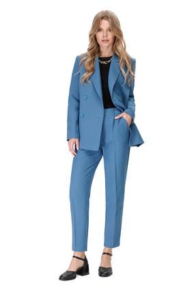 женский брючный костюм pirs, синий