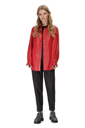женский брючный костюм pirs, красный