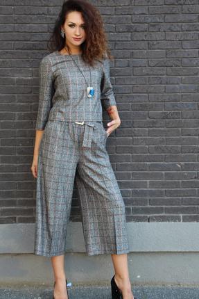женский брючный костюм juliet style, серый