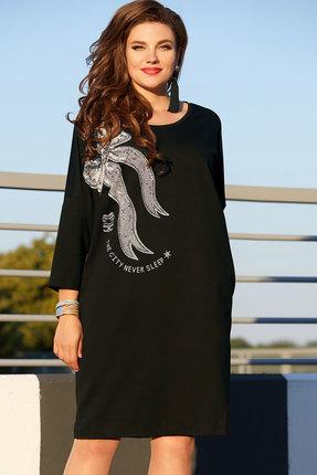 женское повседневные платье vittoria queen, черное