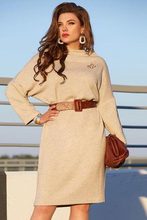 женское повседневные платье vittoria queen, бежевое