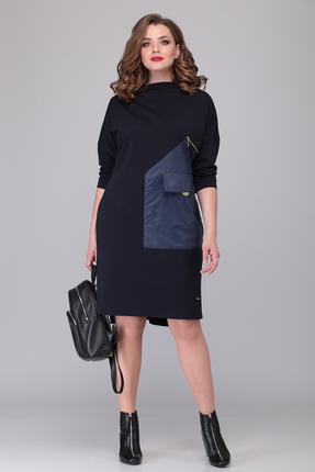 женское повседневные платье verita moda, синее