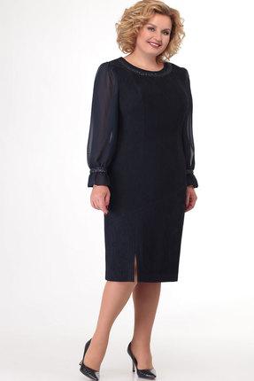 Платье СлавияЭлит 453.1 тёмно-синий