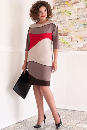 женское повседневные платье avanti erika, кофейное