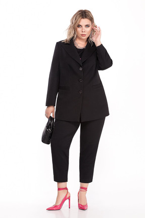 женский брючный костюм pretty, черный