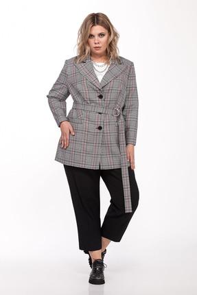 женский брючный костюм pretty, серый