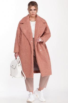 женское пальто pretty, персиковое