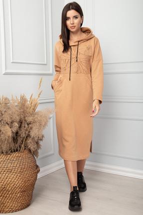 женское повседневные платье sandyna, песочное