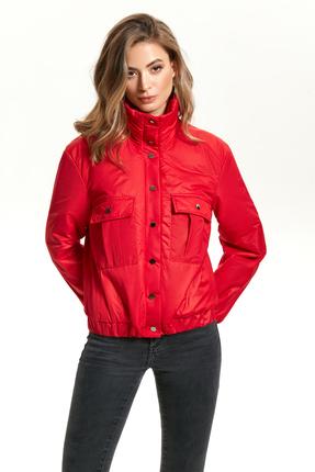 женская куртка teza, красная