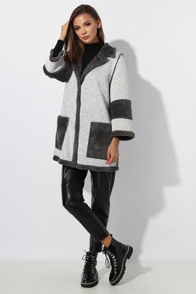 женское пальто миа мода, серое