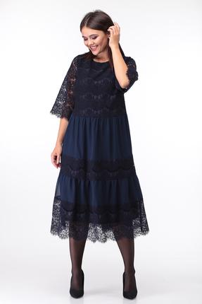 женское вечерние платье anastasia mak, синее