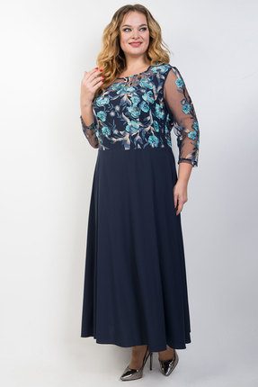 женское вечерние платье tricotex style, синее