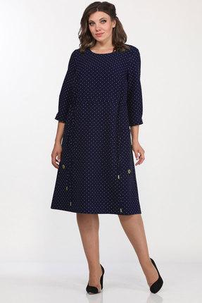 женское повседневные платье lady style classic, синее