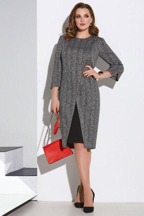 женское платье для офиса lissana, серое