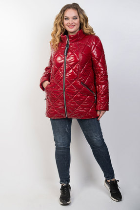 женская куртка tricotex style, красная