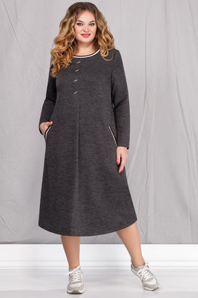 женское повседневные платье ivelta plus, серое