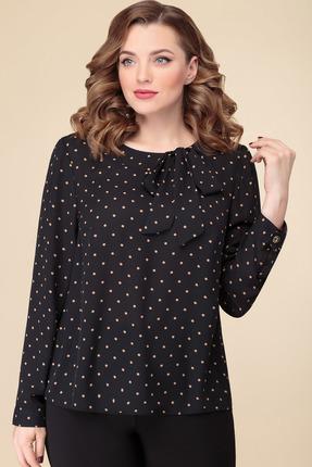 женская блузка в горошек дали, черная