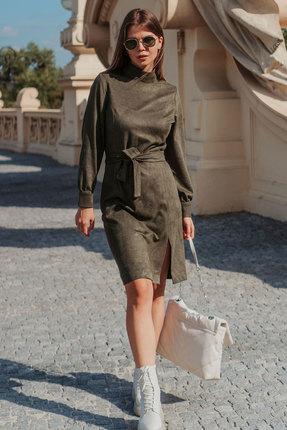 женское повседневные платье mirolia, хаки