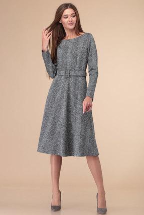 женское повседневные платье линия-л, серое