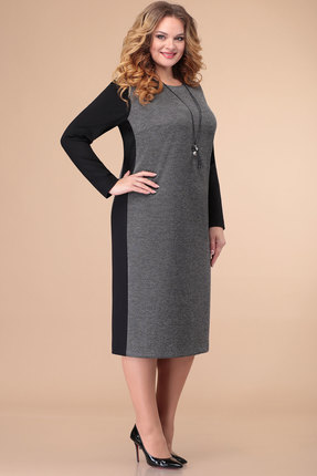 женское платье для офиса линия-л, серое