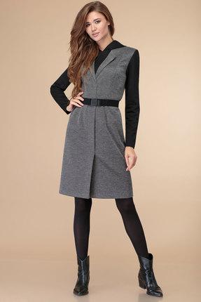 женское повседневные платье линия-л, черное