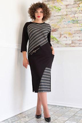 женское повседневные платье avanti erika, черное