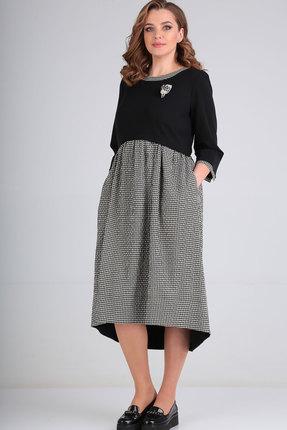 женское повседневные платье ришелье, черное
