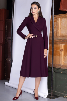 женское повседневные платье юрс, бордовое